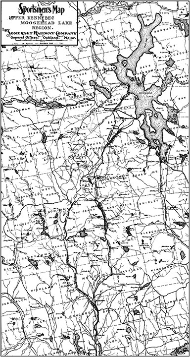 Maps Old Tales Of The Maine Woods